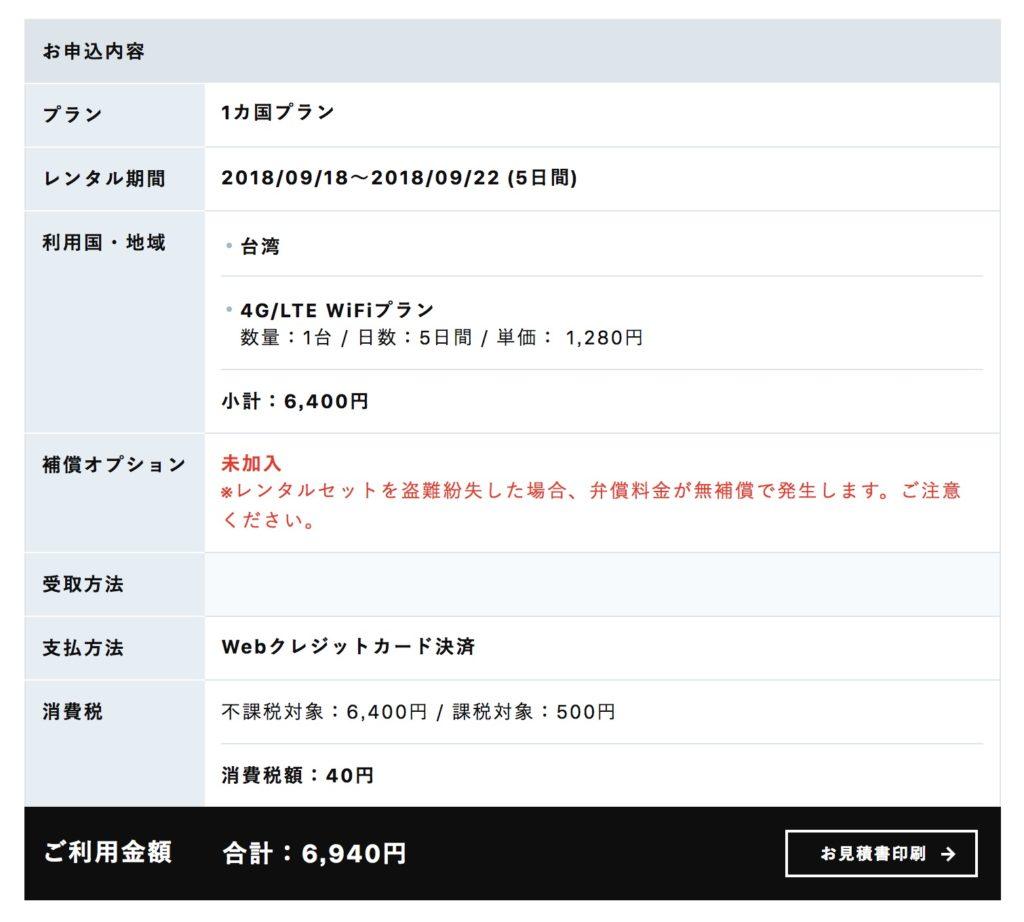 イモトのWiFiは5日間で7,000円
