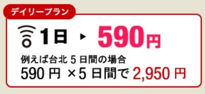台湾データを5日間使っても3,000円以下